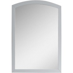 American Imaginations AI-18264 21.65-in. W x 31.5-in. H Modern Birch Wood-Veneer Wood Mirror In White