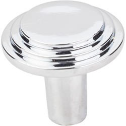 "Elements 331 Series Calloway 1-1/8"" Diameter Stepped Rounded Cabinet Knob"