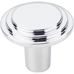 "Elements 331L Calloway 1-1/4"" Diameter Stepped Rounded Cabinet Knob"