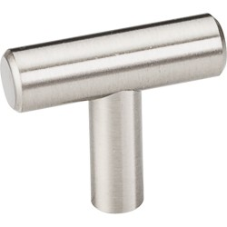 Elements 39SS Naples 39mm Hollow Stainless Steel Cabinet Knob with Beveled Ends