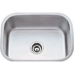 "Hardware Resources 862 Series Stainless Steel (18 Gauge) Utility Sink (23 1/2"" x 17 3/4"" x 9"")"