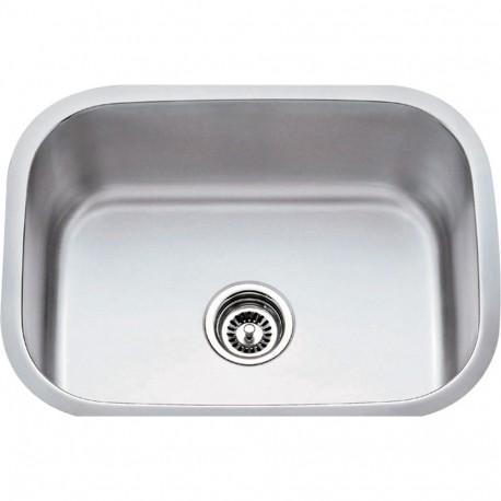 "Hardware Resources 862 Series Stainless Steel (18 Gauge) Utility Sink (23 1/2"" x 17 3/4"" x 9"")"