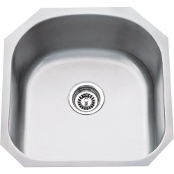 "Hardware Resources 863 Series Stainless Steel (18 Gauge) Utility Sink (19 3/4"" x 20 1/2"" x 9"")"