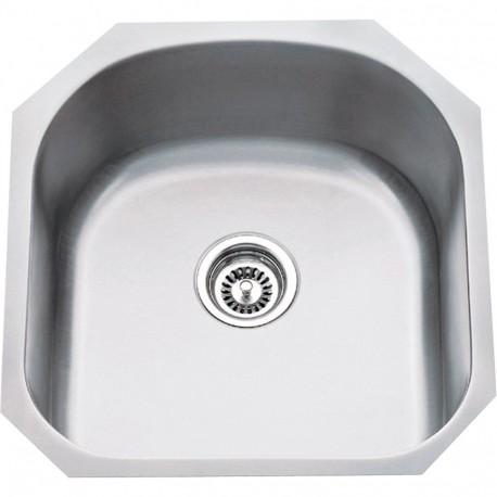 "Hardware Resources 863 Series Stainless Steel (18 Gauge) Utility Sink (19 3/4"" x 20 1/2"" x 9"")"