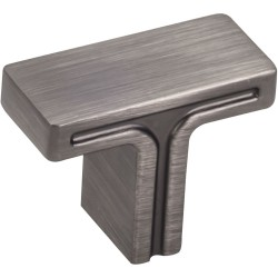"Jeffrey Alexander 867 Series Anwick 1-3/8"" OL Rectangle Cabinet Knob"