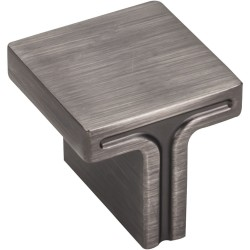 "Jeffrey Alexander 867L Anwick 1-1/8"" OL Square Cabinet Knob"