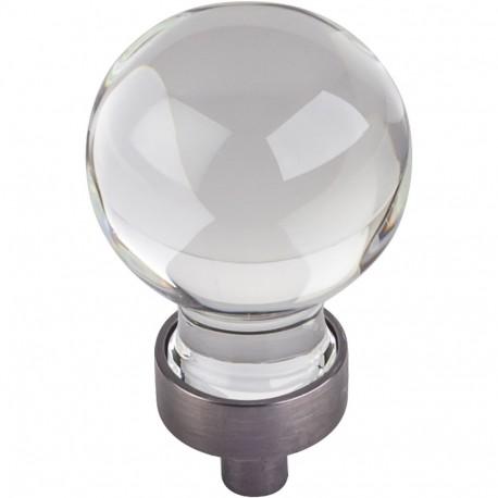 "Jeffrey Alexander G130 Harlow 1 1/16"" Glass Sphere Cabinet Knob"