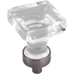"Jeffrey Alexander G140 Harlow 1"" Glass Square Cabinet Knob"