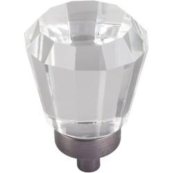 "Jeffrey Alexander G150 Harlow 1"" Glass Tapered Cabinet Knob"