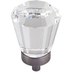 "Jeffrey Alexander Harlow G150L 1 1/4"" Dia Glass Tapered Cabinet Knob"
