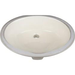 "Hardware Resources H8810 Undermount Porcelain Sink Basin. 17"" x 14"""