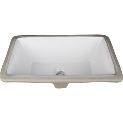 "Hardware Resources H8909WH Undermount Porcelain Rectangle Sink Basin. 16"" x 9-7/8"""