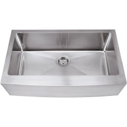 Hardware Resources HA124 Stainless Steel (16 Gauge) Fabricated Farmhouse Style Kitchen Sink