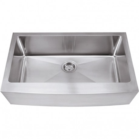 Hardware Resources HA200 Stainless Steel (16 Gauge) Fabricated Farmhouse Style Kitchen Sink