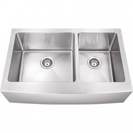 Hardware Resources HA225 Stainless Steel (16 Gauge) Fabricated Farmhouse Kitchen Sink