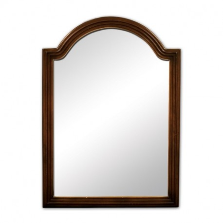 Elements MIR029 Compton Elements Walnut Reed Frame Mirror with Beveled Glass