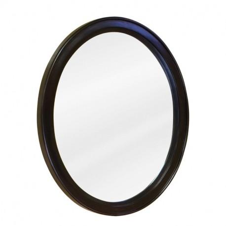 "Jeffrey Alexander MIR056 Demi-Lune Espresso Mirror 22"" x 1-1/4"" x 2"