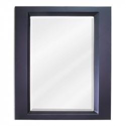"Elements MIR068 Dalton 23"" x 28"" Espresso Mirror with Beveled Glass"