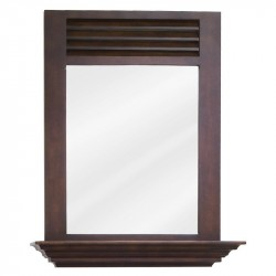 "Elements MIR078 Lindley Bath Elements 25 1/2"" x 30"" Nutmeg Mirror"