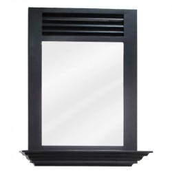 "Elements MIR079 Lindley Bath Elements 25 1/2"" x 30"" Espresso Mirror"
