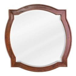 "Jeffrey Alexander MIR080 Philadelphia Classic 26"" x 26"" Chocolate Brown Mirror with Beveled Glass"
