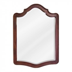 "Jeffrey Alexander MIR081 Philadelphia Classic 26"" x 34"" Chocolate Brown Mirror with Beveled Glass"