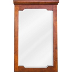 Jeffrey Alexander MIR090 Chatham Shaker Chocolate Mirror with Beveled Glass