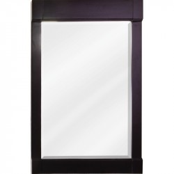 Astoria Modern Jeffrey Alexander MIR092 Espresso Mirror with Beveled Glass