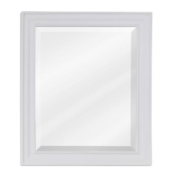 Elements MIR094 Douglas Bath Elements White Mirror with Beveled Glass