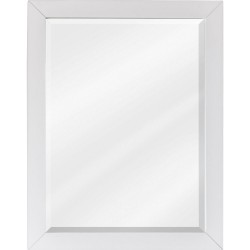 Cade Contempo White Jeffrey Alexander MIR104 White Mirror with Beveled Glass