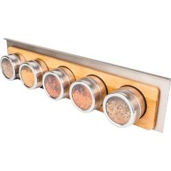 Hardware Resources SRSS980-BAM Hanging 5 Spice Bottle Shelf for Smart Rail Storage Solution