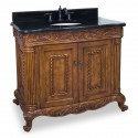 """Jeffrey Alexander VAN012 Burled Ornate 39"""" Vanity"""