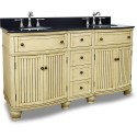 """Elements VAN028D-60-T Compton Bath Elements 60"""" Double Vanity with Preassembled Top and Bowl"""