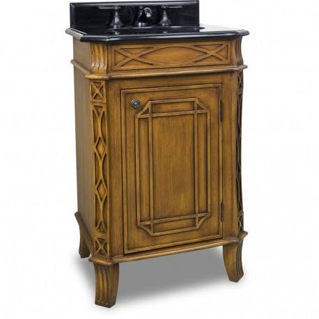 "Elements VAN047-T Hamilton Bath Elements 24"" Vanity with Toffee Finish and Preassembled Top and Bowl"