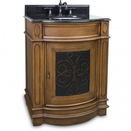 """Elements VAN050-T Abbott Bath Elements 29"""" Vanity with Toffee Finish and Preassembled Top and Bowl"""