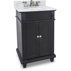 "Elements VAN057 Douglas wide MDF vanity features a sleek black finish (for 24"" Top)"