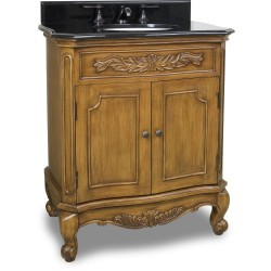 """Elements VAN060-T Clairemont Bath Elements 30 1/2"""" Vanity with Warm Caramel and Floral Onlays, Preassembled Top and Bowl"""