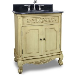 Elements VAN061 Clairemont Bath Elements Vanity with Buttercream Finish, Preassembled Top and Bowl