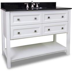 "Elements VAN066-48 Adler Bath Elements Vanity with Sleek White Finish (for 48"" Top)"