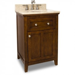 "Jeffrey Alexander VAN090-24 Catham Shaker Vanity with Chocolate Finish and Shaker Design (for 24"" Top)"