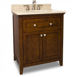 "Jeffrey Alexander VAN090-30 Catham Shaker Vanity with Chocolate Finish and Shaker Design (for 30"" Top)"