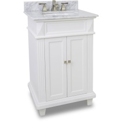 "Elements VAN094 Douglas Elements White Vanity with Sleek White Finish, Tapered Feet (for 24"" Top)"