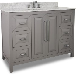 "Jeffrey Alexander VAN100-48 Cade Contempo Vanity with Grey Finish and Leading Edge Design (for 48"" Top)"
