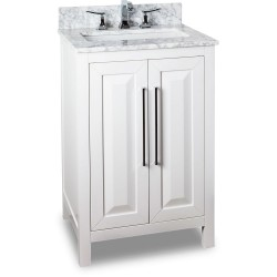 "Jeffrey Alexander VAN104-24 Cade Contempo Vanity with Sleek Finish and Leading Edge Design (for 24"" Top)"