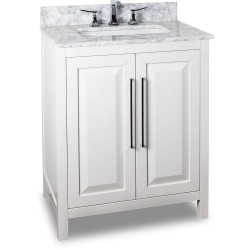 "Jeffrey Alexander VAN104-30 Cade Contempo Vanity with Sleek Finish and Leading Edge Design (for 30"" Top)"
