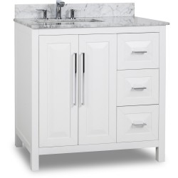"Jeffrey Alexander VAN104-36 Cade Contempo Vanity with Sleek Finish and Leading Edge Design (for 36"" Top)"