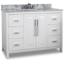 "Jeffrey Alexander VAN104-48 Cade Contempo Vanity with Sleek Finish and Leading Edge Design (for 48"" Top)"