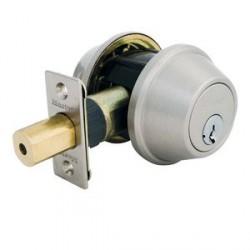 Master Lock Single Cylinder Grade 3 Deadbolt in Satin Nickel