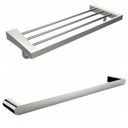 American Imaginations AI-13383 Single Rod And Multi-Rod Towel Rack Accessory Set