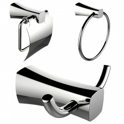 American Imaginations AI-13415 Towel Ring, Toilet Paper Holder And Robe Hook Accessory Set